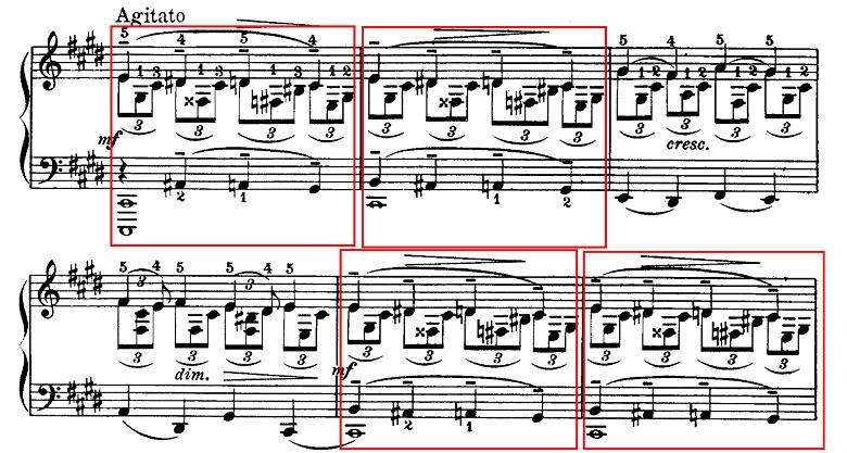 ラフマニノフ「幻想的小品集「<br /> 前奏曲嬰ハ短調「鐘」Op.3-2」」ピアノ楽譜1