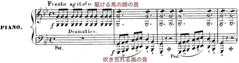 シューベルト「魔王」ト短調D328,Op.1/ピアノ編曲:リスト「シューベルトによる12の歌曲」第4曲S.558-4 楽譜1