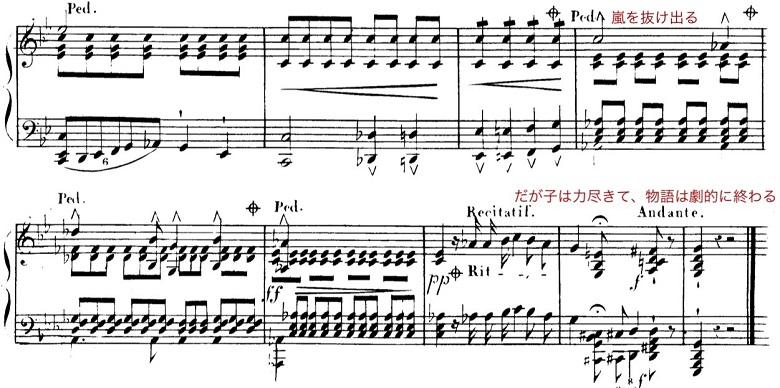 シューベルト「魔王」ト短調D328,Op.1/ピアノ編曲:リスト「シューベルトによる12の歌曲」第4曲S.558-4 楽譜7