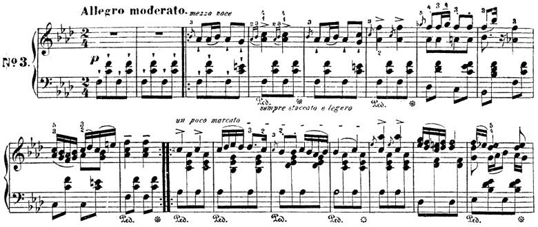 シューベルト「楽興の時」第3番 f moll ピアノ楽譜