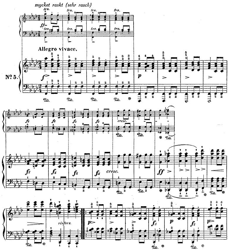 シューベルト「楽興の時」第5番 f moll ピアノ楽譜1