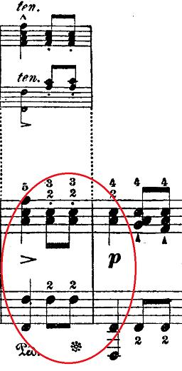 シューベルト「楽興の時」第5番 f moll ピアノ楽譜2