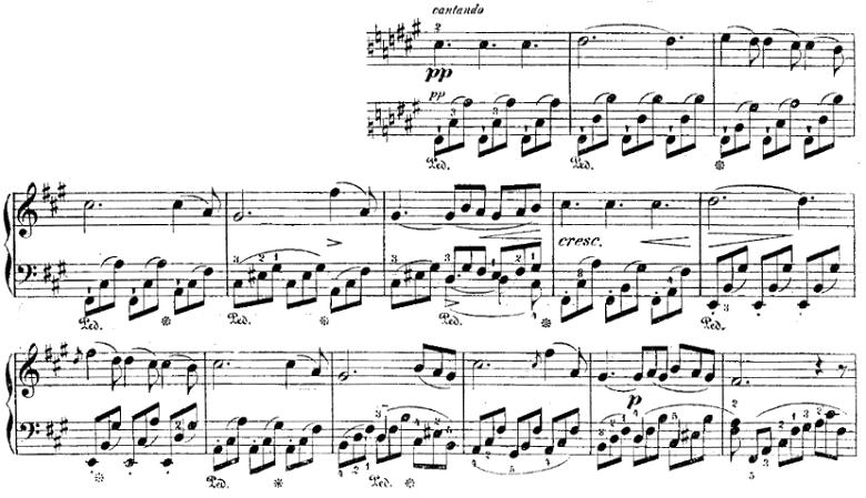 シューベルト「楽興の時」第2番  As dur ピアノ楽譜1