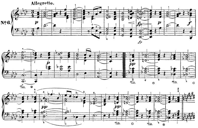 シューベルト「楽興の時」第6番  As dur ピアノ楽譜1