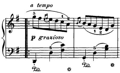 ブルグミュラー「18の練習曲第3番「家路につく牧童」ト長調Op.109-3」ピアノ楽譜2