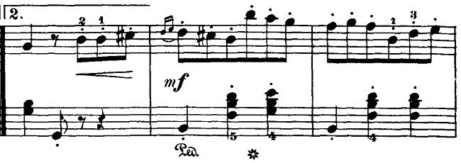 ブルグミュラー「18の練習曲第3番「家路につく牧童」ト長調Op.109-3」ピアノ楽譜3