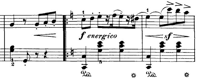 ブルグミュラー「18の練習曲第3番「家路につく牧童」ト長調Op.109-3」ピアノ楽譜5