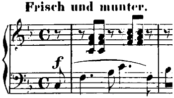 シューマン「子供のためのアルバム第10曲・楽しき農夫」ヘ長調Op.68-10ピアノ楽譜1