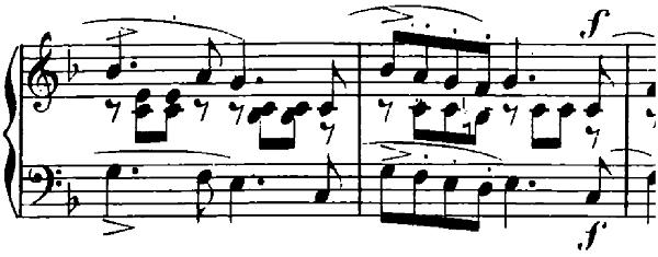 シューマン「子供のためのアルバム第10曲・楽しき農夫」ヘ長調Op.68-10ピアノ楽譜2