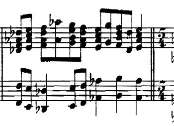 ムソルグスキー「組曲・展覧会の絵「プロムナード」変ロ長調」ピアノ楽譜2