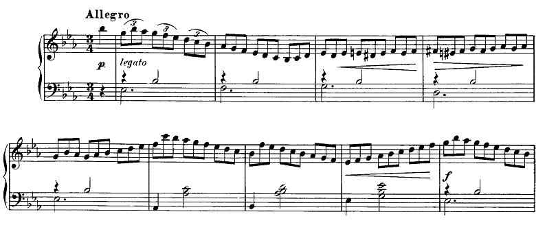 シューベルト「即興曲」第2番Op.90-2 ピアノ楽譜1
