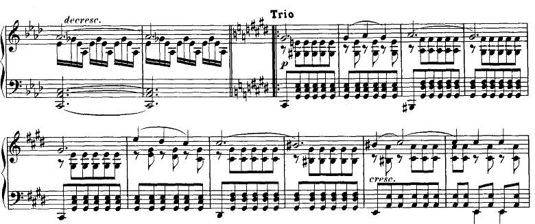 シューベルト「即興曲」第4番Op.90-4 ピアノ楽譜2