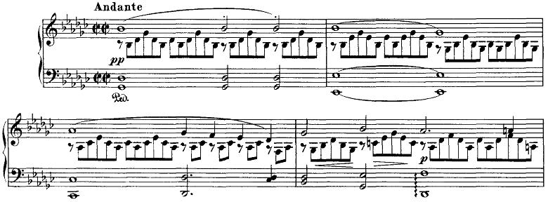 シューベルト「即興曲」第3番Op.90-3 ピアノ楽譜
