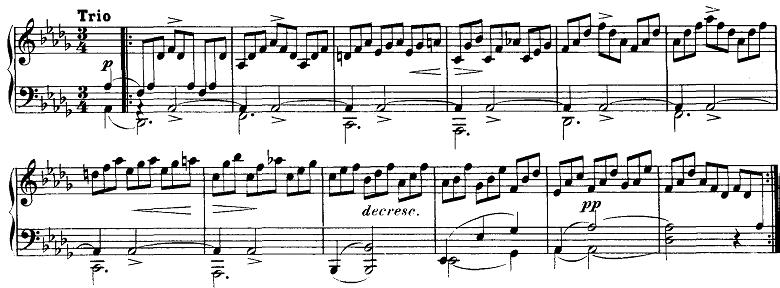 シューベルト「即興曲」第2番Op.124-2 ピアノ楽譜
