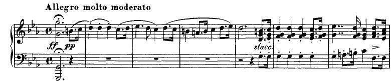シューベルト「即興曲」第1番Op.90-1 ピアノ楽譜1