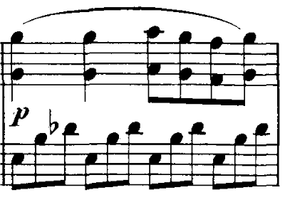 シューベルト「即興曲」第1番Op.90-1 ピアノ楽譜2