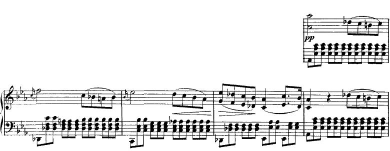 シューベルト「即興曲」第1番Op.90-1 ピアノ楽譜3