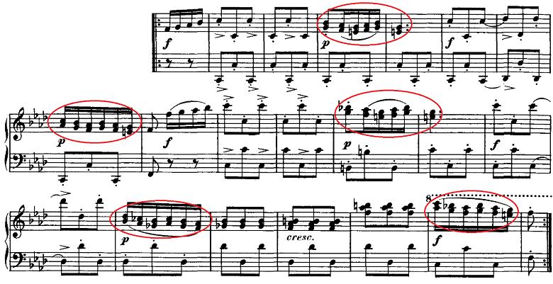 シューベルト「即興曲」第4番Op.142-4 ピアノ楽譜2