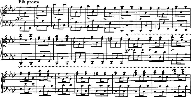シューベルト「即興曲」第4番Op.142-4 ピアノ楽譜3