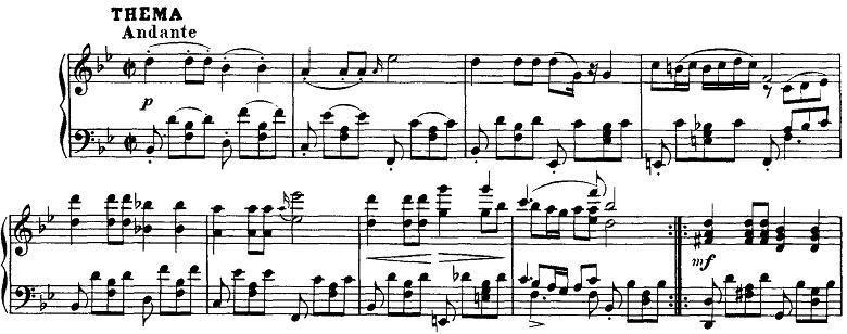シューベルト「即興曲」第3番Op.142-3テーマ ピアノ楽譜