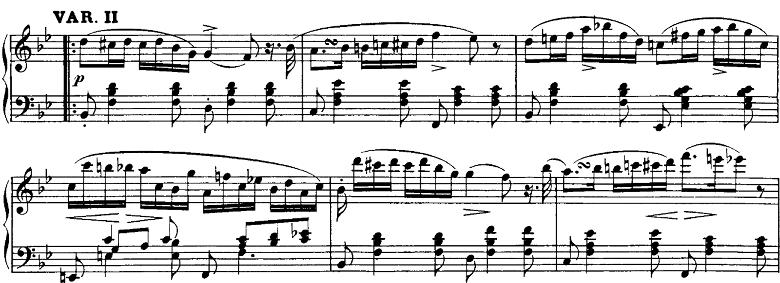 シューベルト「即興曲」第3番Op.142-3第2変奏 ピアノ楽譜