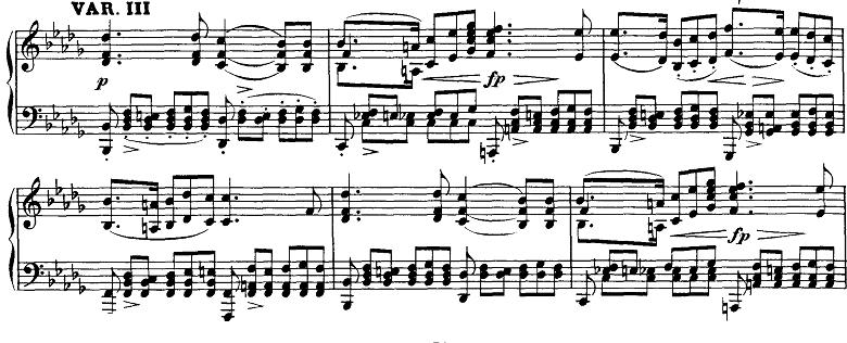 シューベルト「即興曲」第3番Op.142-3第3変奏 ピアノ楽譜