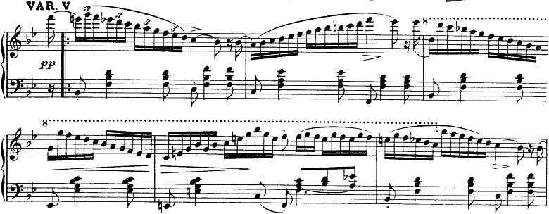 シューベルト「即興曲」第3番Op.142-3第5変奏 ピアノ楽譜