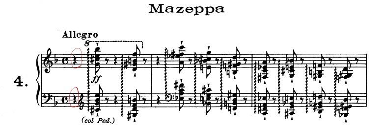 リスト「超絶技巧練習曲集S.139第4番「マゼッパ」ニ短調」ピアノ楽譜1