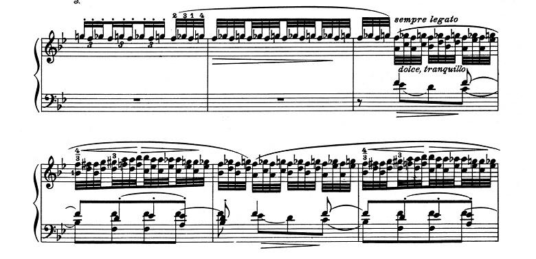 リスト「超絶技巧練習曲集S.139第5番「鬼火」変ロ長調」ピアノ楽譜3