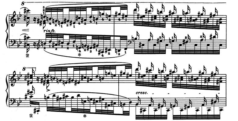 リスト「超絶技巧練習曲集S.139第5番「鬼火」変ロ長調」ピアノ楽譜6
