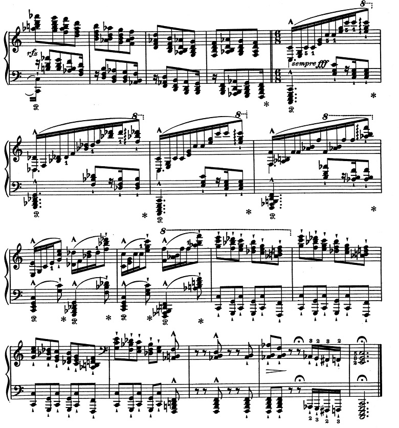 リスト「超絶技巧練習曲集S.139第8番「狩り」ハ短調」ピアノ楽譜6