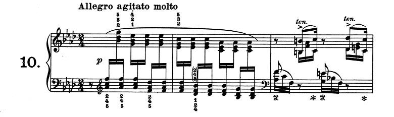 リスト「超絶技巧練習曲集S.139第10番 ヘ短調」ピアノ楽譜1