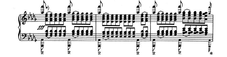 リスト「超絶技巧練習曲集S.139第11番「夕べの調べ」変ニ長調」ピアノ楽譜2