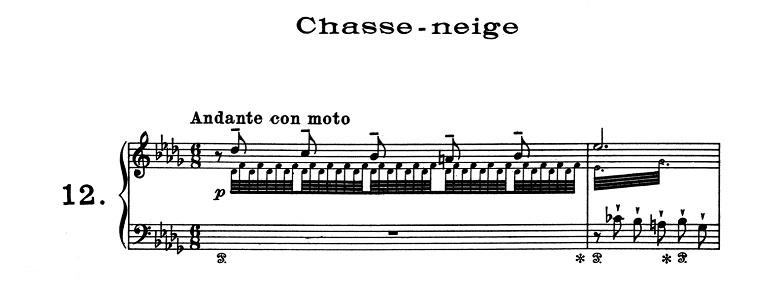 リスト「超絶技巧練習曲集S.139第12番「雪かき(雪あらし)」変ロ短調」ピアノ楽譜1