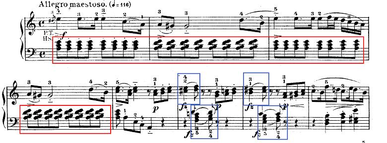 モーツァルト「ピアノソナタ第9(8)番イ短調K.310第1楽章」ピアノ楽譜1