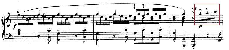 モーツァルト「ピアノソナタ第9(8)番イ短調K.310第1楽章」ピアノ楽譜2