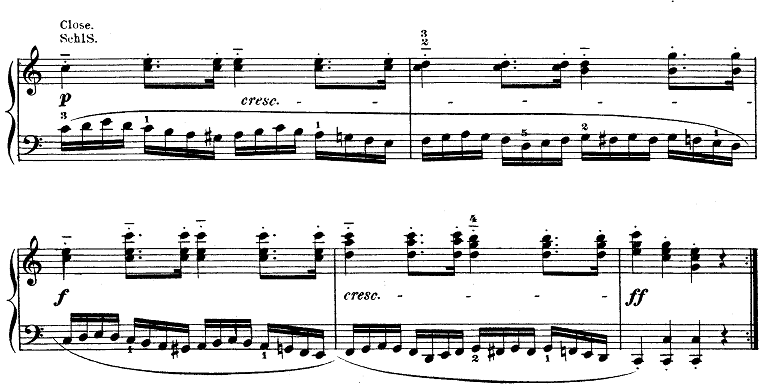 モーツァルト「ピアノソナタ第9(8)番イ短調K.310第1楽章」ピアノ楽譜4