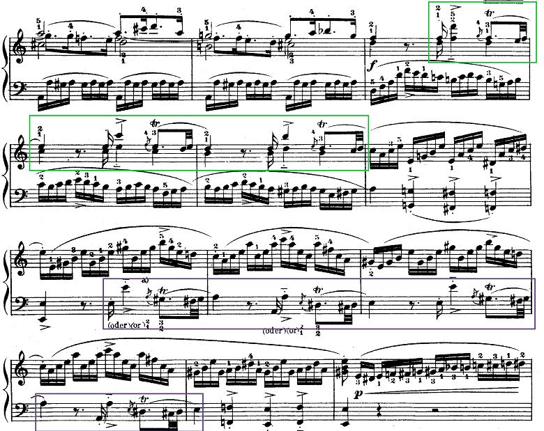 モーツァルト「ピアノソナタ第9(8)番イ短調K.310第1楽章」ピアノ楽譜6