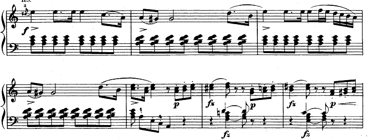 モーツァルト「ピアノソナタ第9(8)番イ短調K.310第1楽章」ピアノ楽譜7