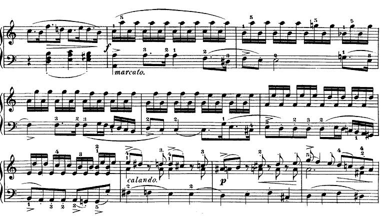 モーツァルト「ピアノソナタ第9(8)番イ短調K.310第1楽章」ピアノ楽譜8