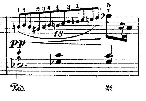 ショパン「ワルツ第9番『別れのワルツ』変イ長調Op.69-1」13連符のピアノ楽譜