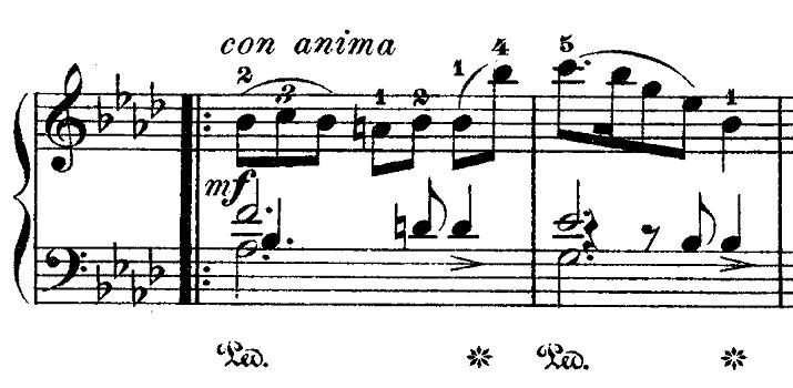 ショパン「ワルツ第9番『別れのワルツ』変イ長調Op.69-1」謎が多い部分のピアノ楽譜