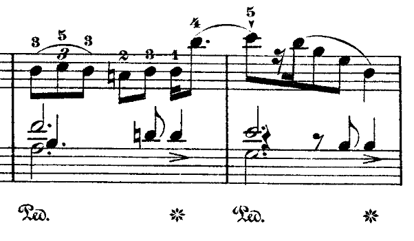 ショパン「ワルツ第9番『別れのワルツ』変イ長調Op.69-1」スタッカーティシモの付いたピアノ楽譜
