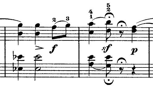 ショパン「ワルツ第9番『別れのワルツ』変イ長調Op.69-1」フェルマータ部分のピアノ楽譜