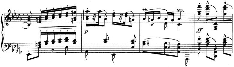 リスト「ハンガリー狂詩曲第6番変ニ長調S.244-6」ピアノ楽譜2