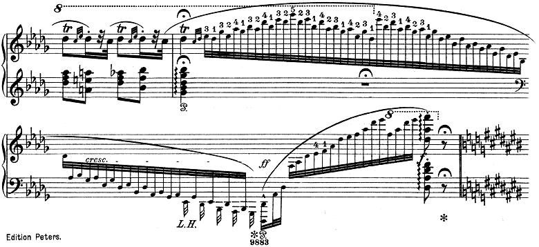 リスト「ハンガリー狂詩曲第6番変ニ長調S.244-6」ピアノ楽譜3