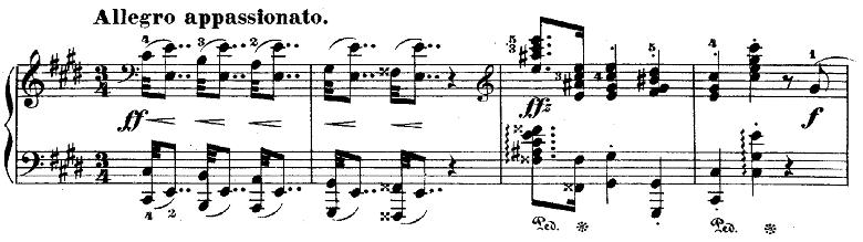 ショパンポロネーズ「第1番嬰ハ短調Op.26-1」ピアノ楽譜1