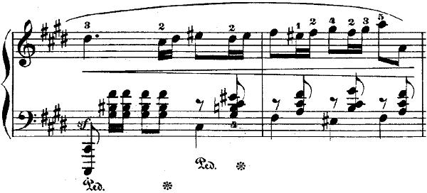 ショパンポロネーズ「第1番嬰ハ短調Op.26-1」ピアノ楽譜2