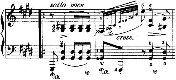 ショパンポロネーズ「第1番嬰ハ短調Op.26-1」ピアノ楽譜3