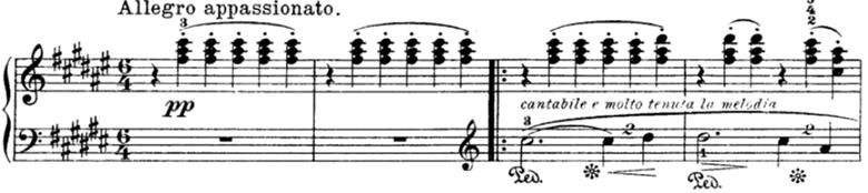 グリーグ抒情小曲集第3集第6曲「春に寄す」嬰へ長調Op.43-6 ピアノ楽譜1